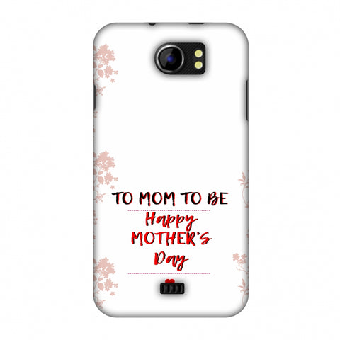Mom To Be - Beige Slim Hard Shell Case For Micromax Canvas 2 A110