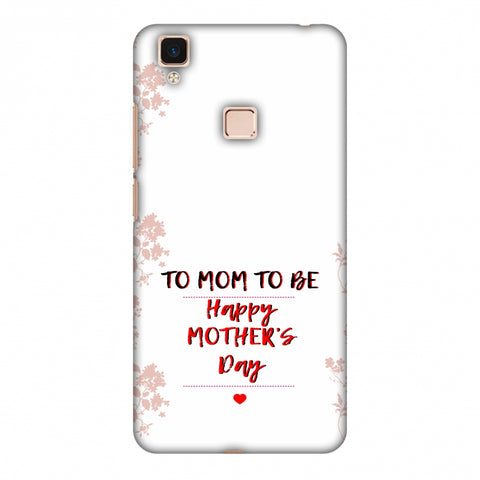 Mom To Be - Beige Slim Hard Shell Case For Vivo V3 Max