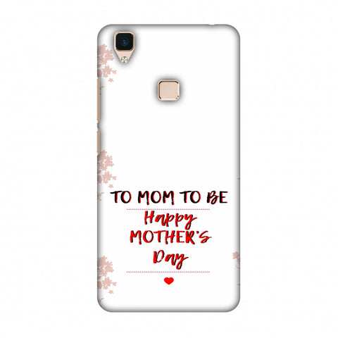 Mom To Be - Beige Slim Hard Shell Case For Vivo V3