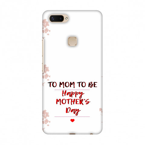 Mom To Be - Beige Slim Hard Shell Case For Vivo X20 Plus
