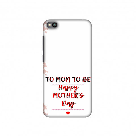 Mom to be- Beige Slim Hard Shell Case For Redmi Go