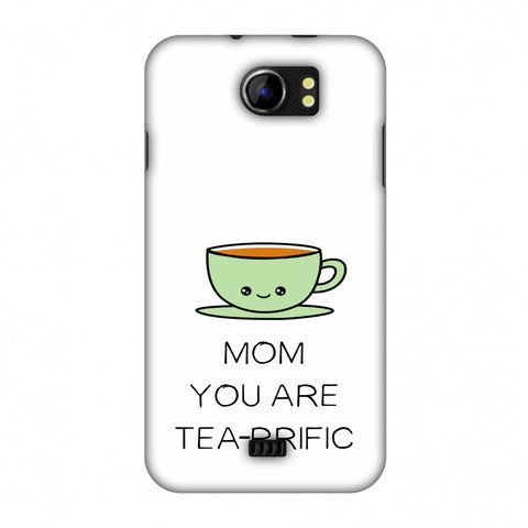 Mom You Are Tea -Rrific - Beige Slim Hard Shell Case For Micromax Canvas 2 A110