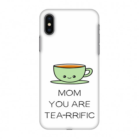 Mom You Are Tea -Rrific - Beige Slim Hard Shell Case For Apple iPhone X