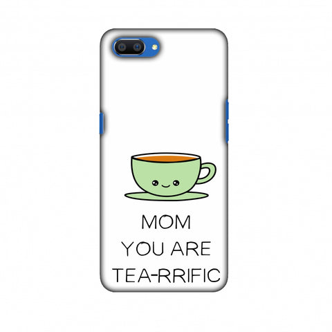 Mom You Are Tea -Rrific - Beige Slim Hard Shell Case For Oppo Realme C1