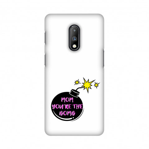 Mom you are the Bomb- Beige Slim Hard Shell Case For OnePlus 7