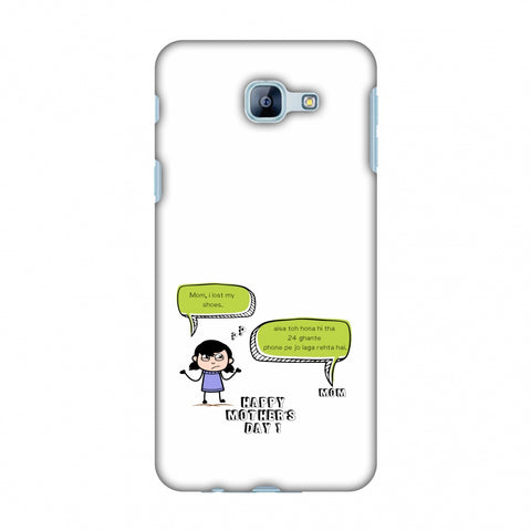 Mom, I Lost My Shoes - Girl - Beige Slim Hard Shell Case For Samsung Galaxy A8 2016