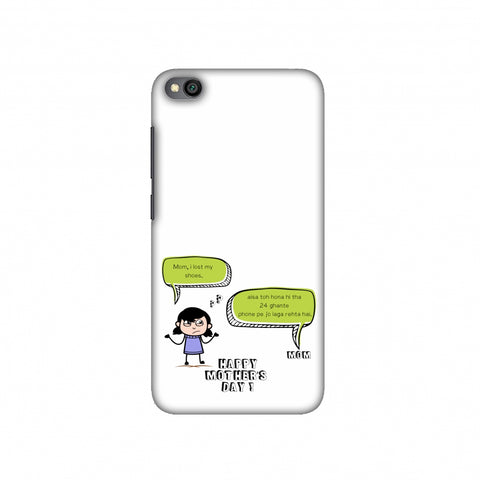 Mom, I lost my shoes- Girl- Beige Slim Hard Shell Case For Redmi Go