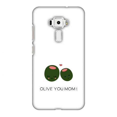 Olive You Mom - Beige Slim Hard Shell Case For Asus Zenfone 3 ZE520KL