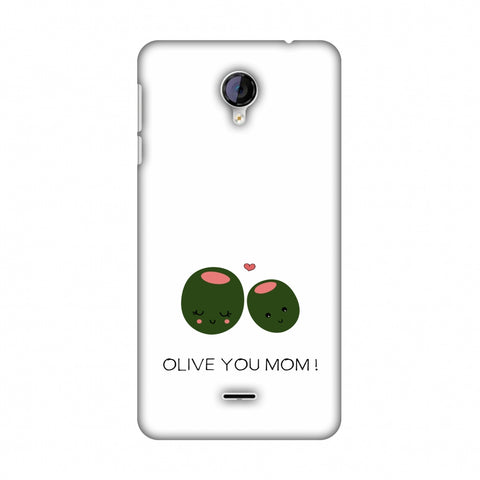Olive You Mom - Beige Slim Hard Shell Case For Micromax Canvas Unite 2 A106