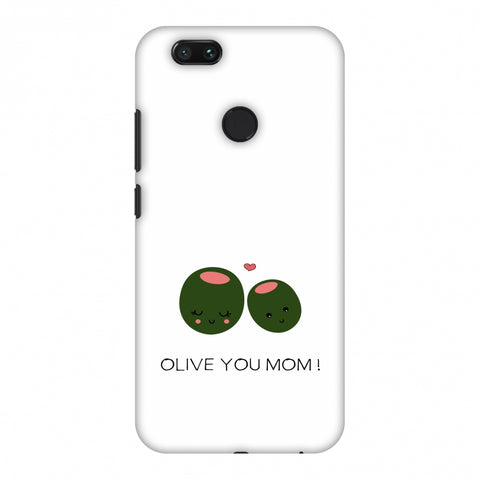 Olive You Mom - Beige Slim Hard Shell Case For Xiaomi MI A1-5X