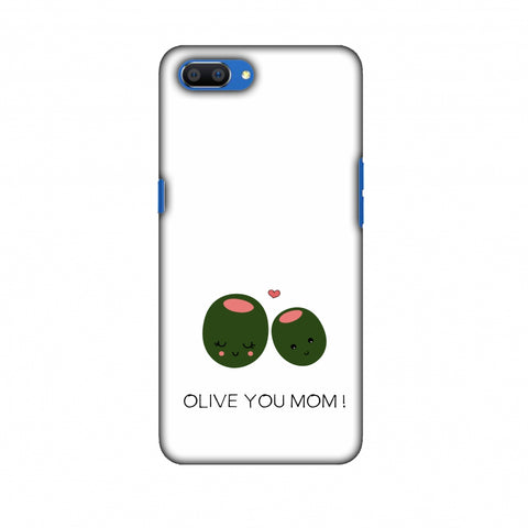 Olive You Mom - Beige Slim Hard Shell Case For Oppo Realme C1