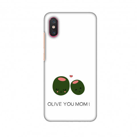 Olive You Mom - Beige Slim Hard Shell Case For Xiaomi Mi 8 Pro