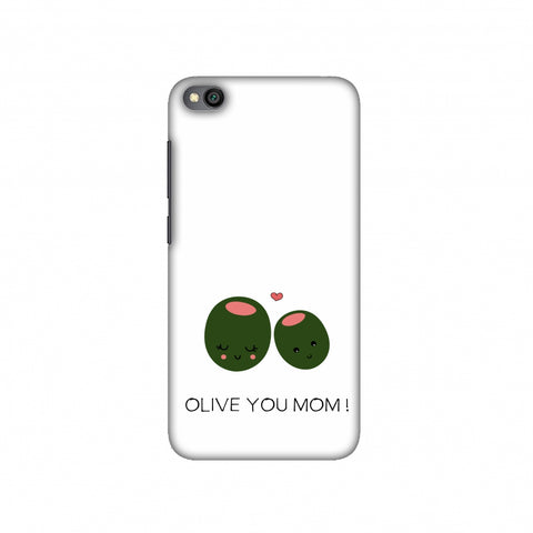 Olive you Mom- Beige Slim Hard Shell Case For Redmi Go