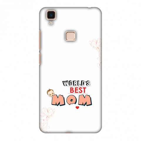World's Best Mom - Beige Slim Hard Shell Case For Vivo V3 Max