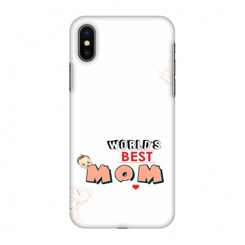 World's Best Mom - Beige Slim Hard Shell Case For Apple iPhone X