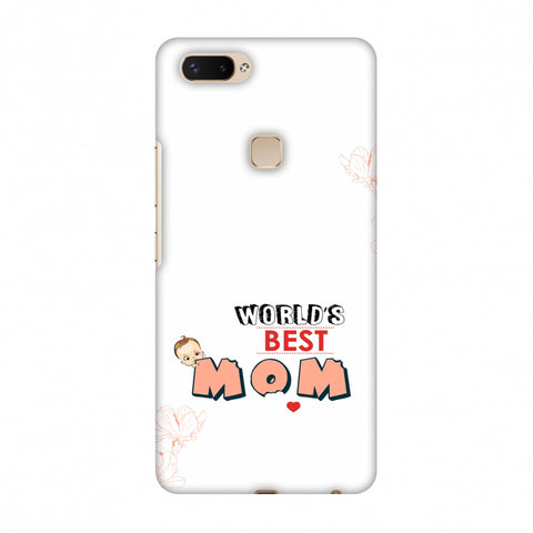 World's Best Mom - Beige Slim Hard Shell Case For Vivo X20 Plus