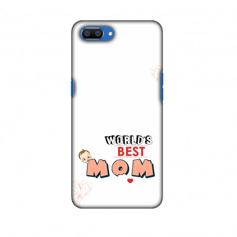 World's Best Mom - Beige Slim Hard Shell Case For Oppo Realme C1