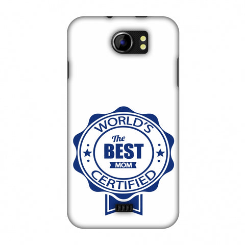 World's Certified - The Best Mom - White Slim Hard Shell Case For Micromax Canvas 2 A110