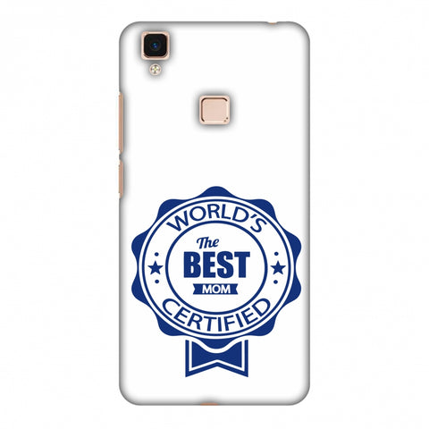 World's Certified - The Best Mom - White Slim Hard Shell Case For Vivo V3 Max