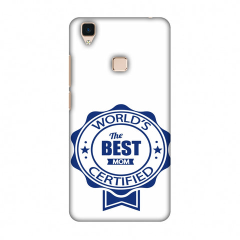 World's Certified - The Best Mom - White Slim Hard Shell Case For Vivo V3