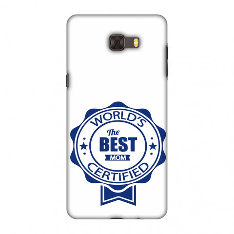 World's Certified - The Best Mom - White Slim Hard Shell Case For Samsung Galaxy C9 Pro