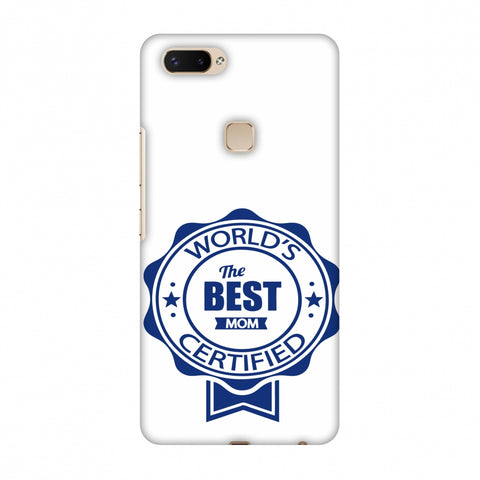 World's Certified - The Best Mom - White Slim Hard Shell Case For Vivo X20 Plus