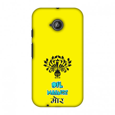 Dil Maange More - Yellow Slim Hard Shell Case For Motorola Moto E 2nd Gen