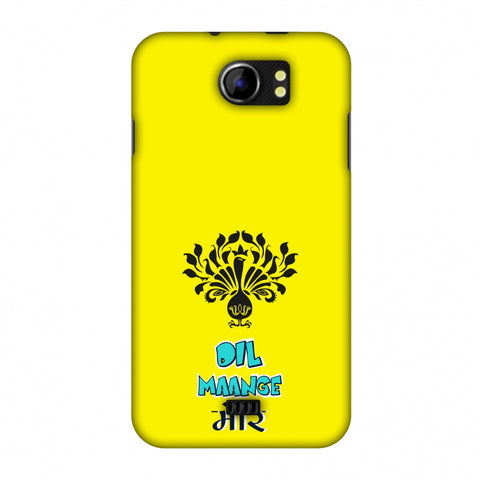 Dil Maange More - Yellow Slim Hard Shell Case For Micromax Canvas 2 A110