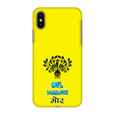 Dil Maange More - Yellow Slim Hard Shell Case For Apple iPhone X