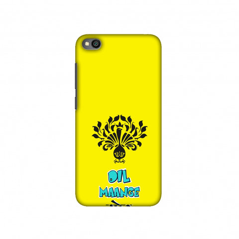 Dil Maange More- Yellow Slim Hard Shell Case For Redmi Go
