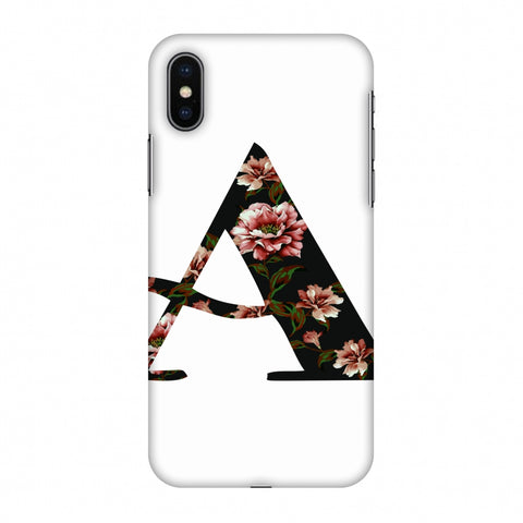 Floral Fill - A Slim Hard Shell Case For Apple iPhone X