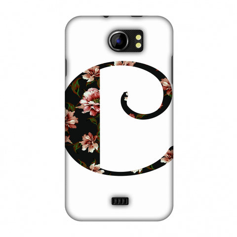 Floral Fill - C Slim Hard Shell Case For Micromax Canvas 2 A110