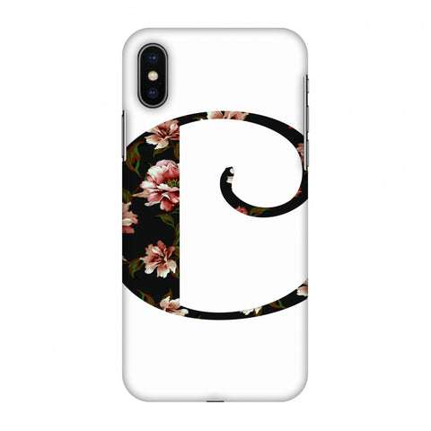 Floral Fill - C Slim Hard Shell Case For Apple iPhone X