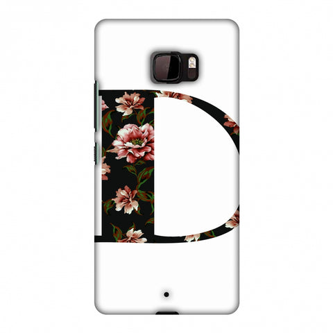 Floral Fill - D Slim Hard Shell Case For HTC U Ultra