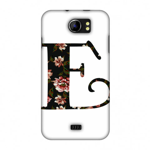 Floral Fill - E Slim Hard Shell Case For Micromax Canvas 2 A110