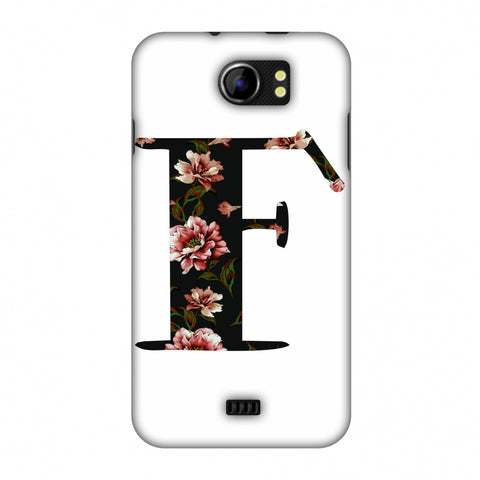 Floral Fill - F Slim Hard Shell Case For Micromax Canvas 2 A110