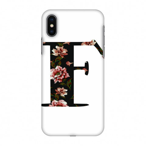Floral Fill - F Slim Hard Shell Case For Apple iPhone X