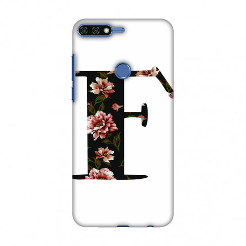 Floral Fill - F Slim Hard Shell Case For Huawei Honor 7C