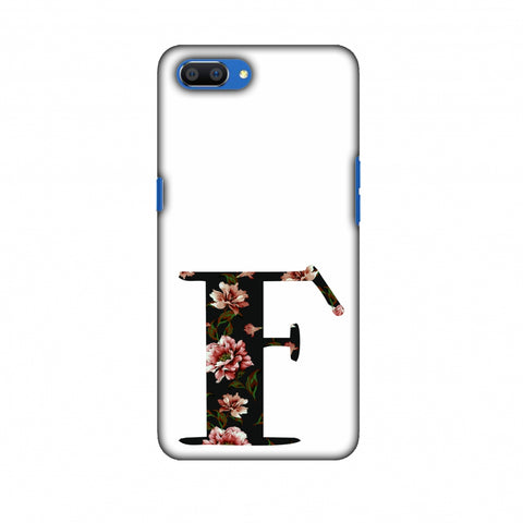 Floral Fill - F Slim Hard Shell Case For Oppo Realme C1