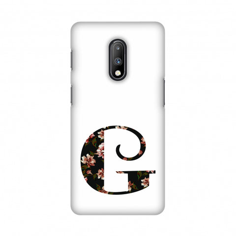 Floral Fill- G Slim Hard Shell Case For OnePlus 7