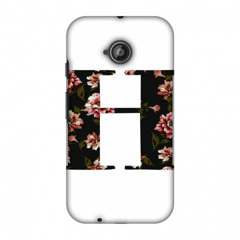 Floral Fill - H Slim Hard Shell Case For Motorola Moto E 2nd Gen