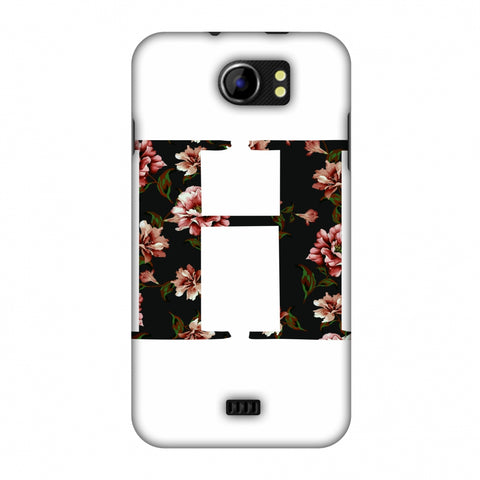 Floral Fill - H Slim Hard Shell Case For Micromax Canvas 2 A110