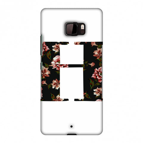Floral Fill - H Slim Hard Shell Case For HTC U Ultra