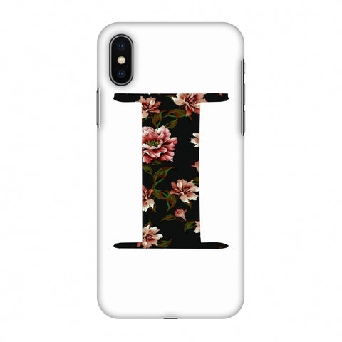 Floral Fill - I Slim Hard Shell Case For Apple iPhone X