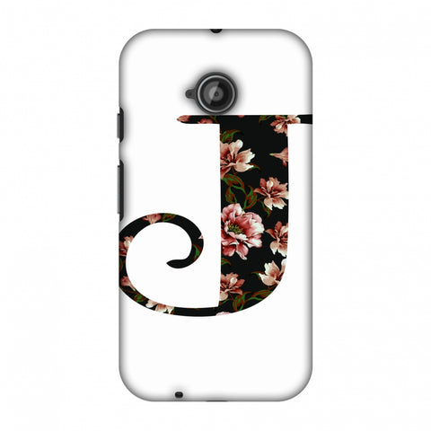 Floral Fill - J Slim Hard Shell Case For Motorola Moto E 2nd Gen