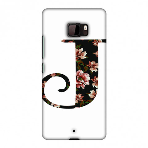 Floral Fill - J Slim Hard Shell Case For HTC U Ultra