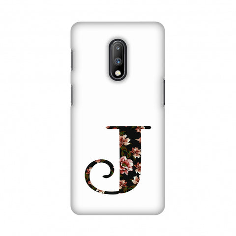 Floral Fill- J Slim Hard Shell Case For OnePlus 7