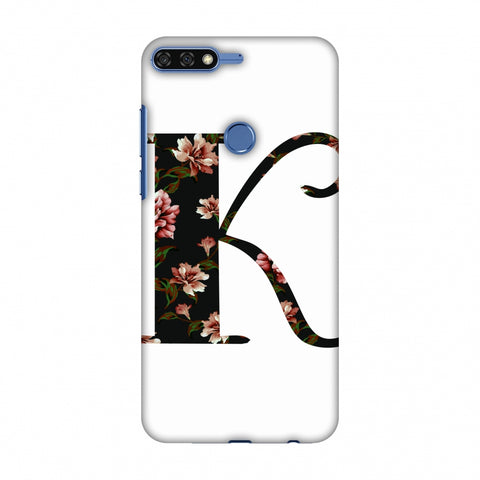 Floral Fill - K Slim Hard Shell Case For Huawei Honor 7C