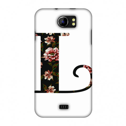Floral Fill - L Slim Hard Shell Case For Micromax Canvas 2 A110