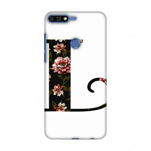 Floral Fill - L Slim Hard Shell Case For Huawei Honor 7C